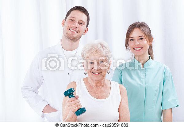 paziente, giovane, dottori - csp20591883