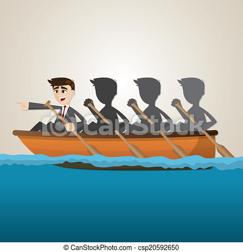 Team Rowing Clipart Cartoon Business Team Rowing