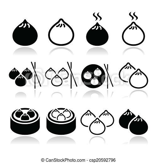 Chinese Dumpling Drawing Chinese Dumplings Asian Food