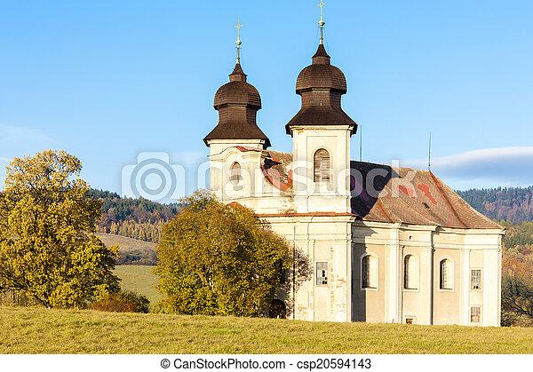 church of Saint Margaret, Sonov near Broumov, Czech Republic - csp20594143