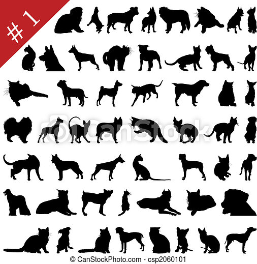 pets silhouettes # 1 - csp2060101