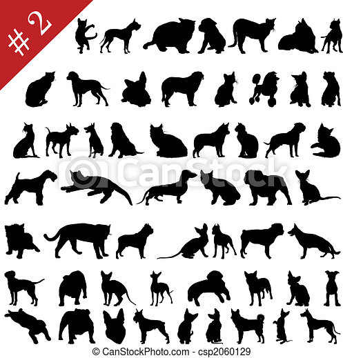pets silhouettes # 2 - csp2060129