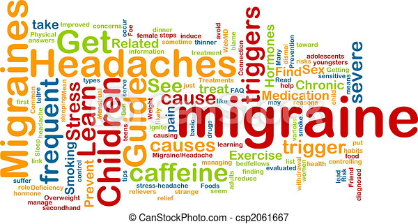 Migraine word cloud - csp2061667
