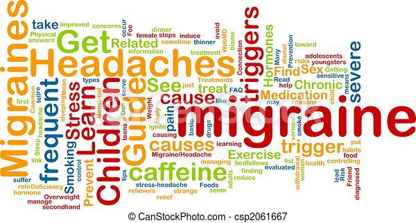 Migraine word cloud - csp2061667