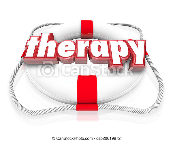 Therapy Word Life Preserver Medical Health Care Rehab - csp20619972