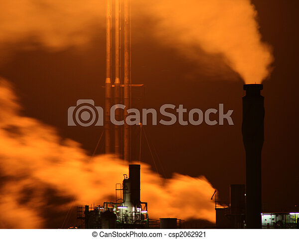 industry with fire and smoke  - csp2062921