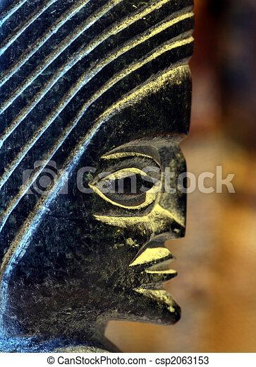 figure of a old culture in peru - csp2063153