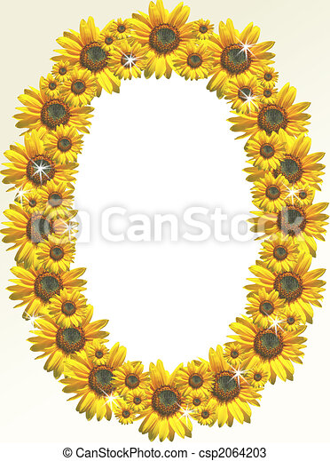 Drawings of Sunflower border - A photo frame designed with sunflowers ...