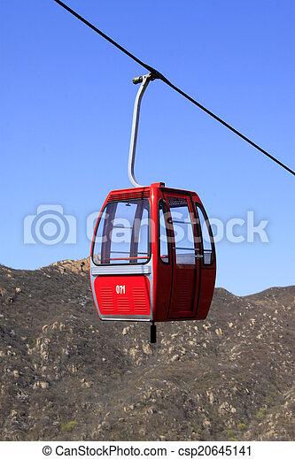 Aerial ropeway in Panshan Mountain scenic spot, ji county, tianj
