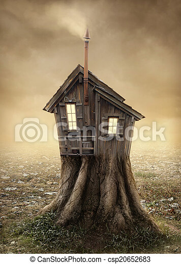 Fantasy tree house - csp20652683