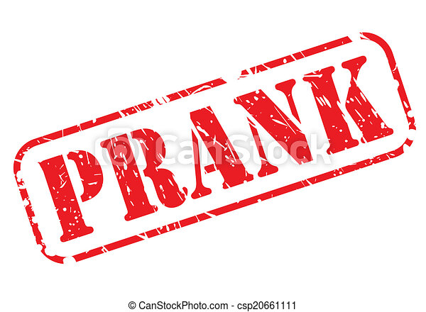 Prank red stamp text - csp20661111