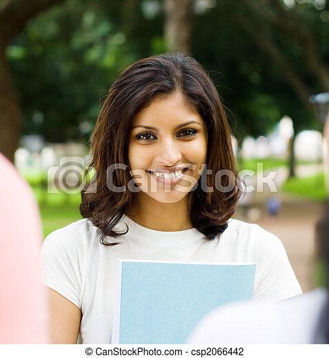 beautiful indian student - csp2066442