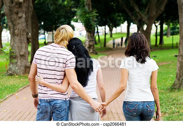 love triangle - csp2066481
