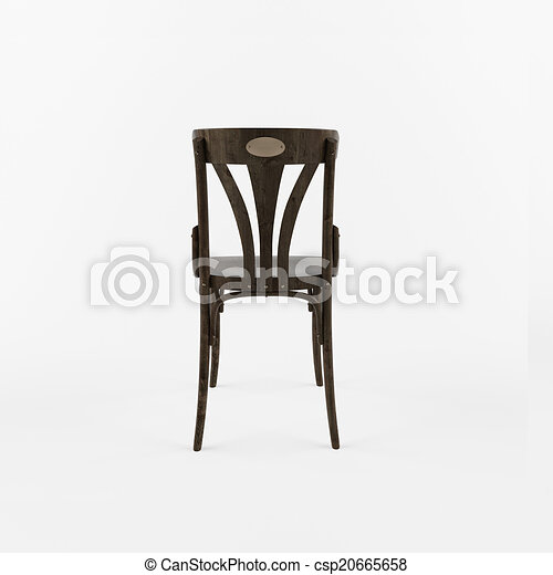 Illustrations de d dos 3 retro chaise vue back vue for Chaise dos droit