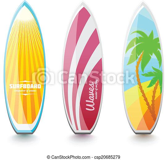 illustrations vectoris es de surfer planches surf ensemble de planches surf pour. Black Bedroom Furniture Sets. Home Design Ideas