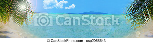 tropical beach background banner - csp2068643