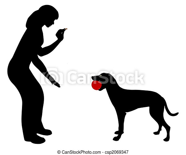 Dog obedience: Command trade! - csp2069347