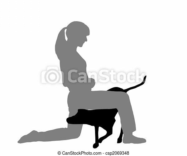 Dog agility (obedience): Command: creep through - csp2069348