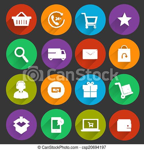 矢量-购物, 电子商业, 图标
