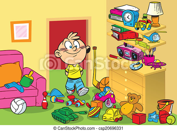 Vectors Of Room With Toys