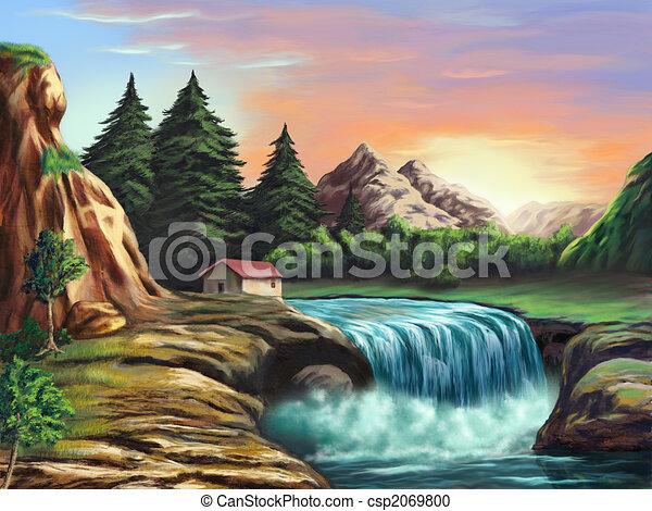 Fantasy landscape - csp2069800