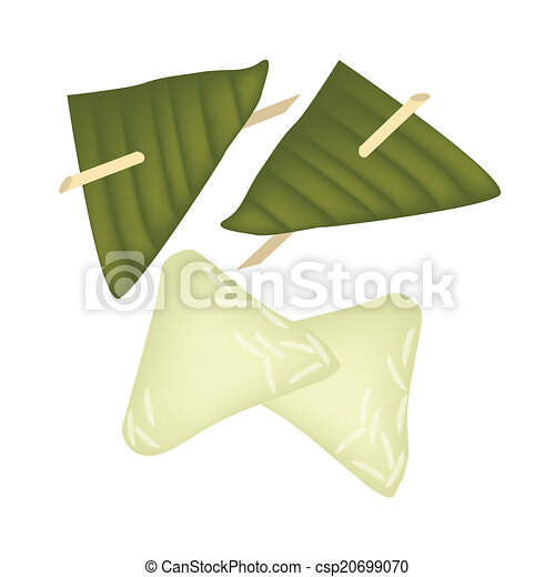 Rice Leaf Drawing Banana Leaf Csp20699070