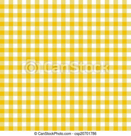 Checkered tablecloths pattern - endless - yellow - csp20701786