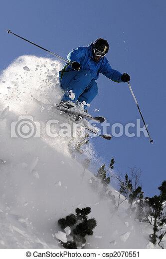 Extreme skier. - csp2070551