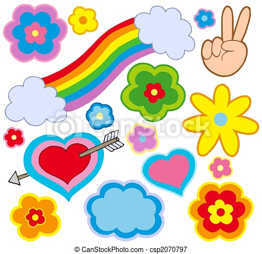 Hippie decorations - csp2070797