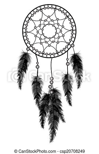 Drawing of black dream catcher csp20708249 search clip for Dream catcher graphic