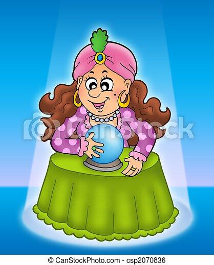 Fortune teller in limelight - csp2070836