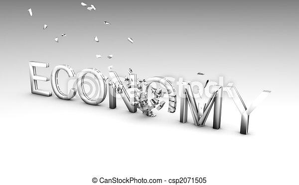 Crumbling Economy - csp2071505