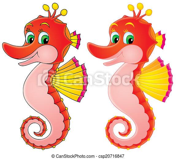 Dessin De Cheval Mer Funny Sea Horse 224 Couleur Et