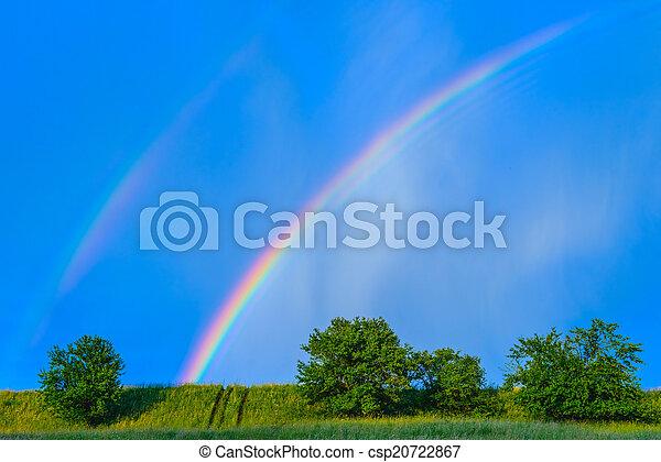 image de bleu arc en ciel apr s ciel pluie beau color csp20722867 recherchez des. Black Bedroom Furniture Sets. Home Design Ideas
