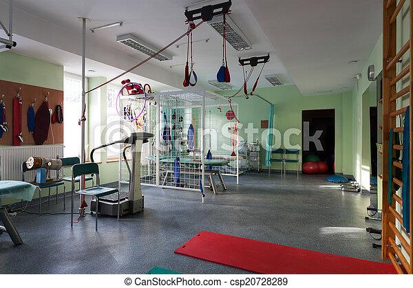 Room with rehabilitation equipment - csp20728289