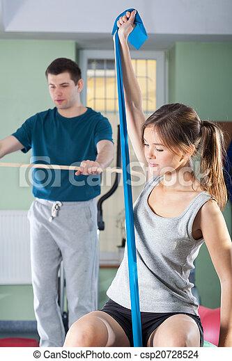 People during rehabilitation - csp20728524