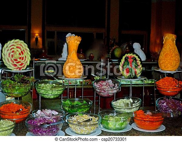 photographies de salade buffet froid buffet dans egypte csp20733301 recherchez des. Black Bedroom Furniture Sets. Home Design Ideas