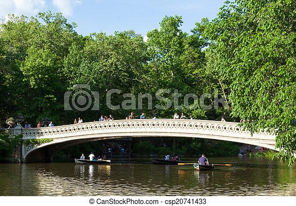 Central Park Lake in Manhattan, New York   - csp20741433