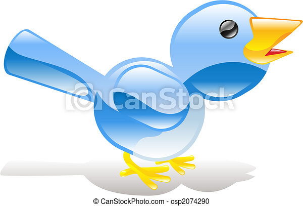 Twitter ing blue bird icon - csp2074290