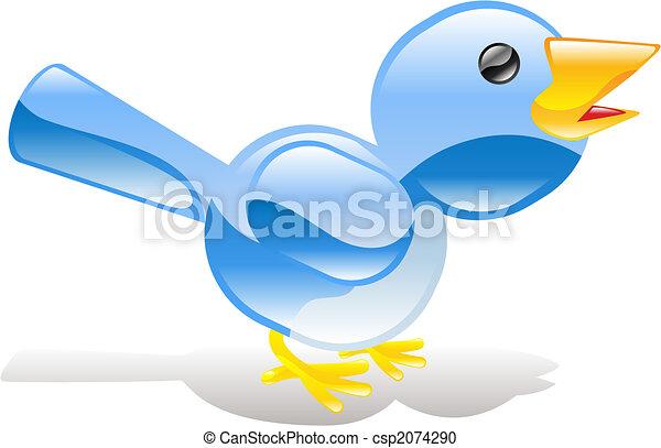 Twitter ing blue bird icon - csp2074290