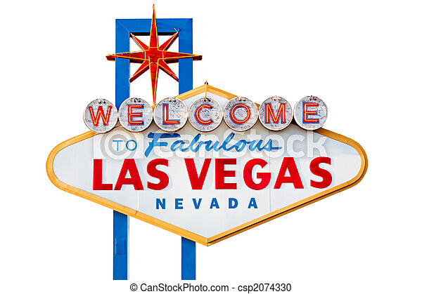 las vegas sign isolated on white - csp2074330