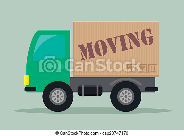 moving truck - csp20747170