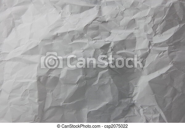 wrinkled and crushed paper - csp2075022