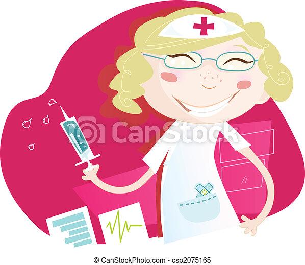 Hospital nurse - csp2075165