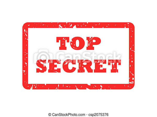 Top Secret stamp - csp2075376