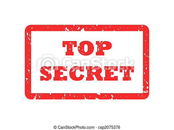 Top Secret stamp - csp2075376