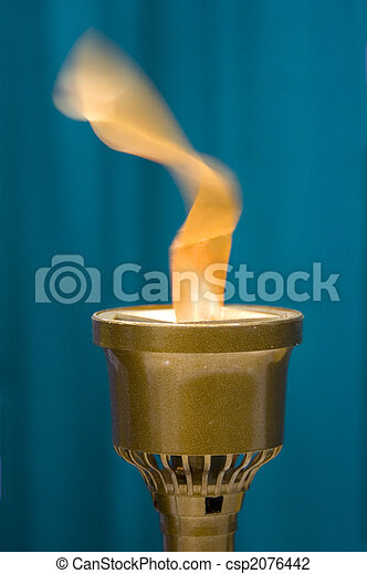 how to make a fake flame torch