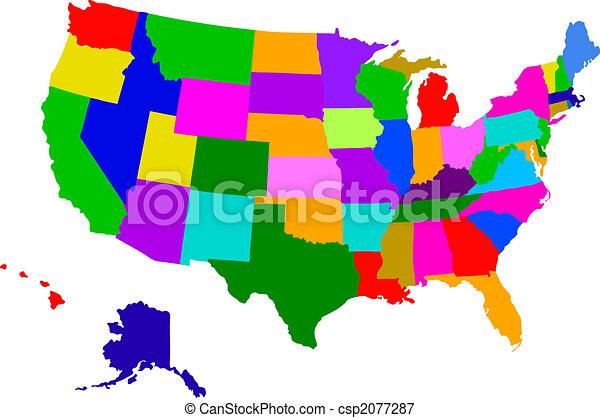 usa map - csp2077287
