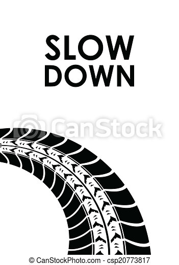 Slow Down Tire Track Background - Royalty Free Vector ...