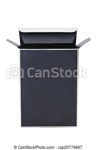 Black cosmetic packaging box